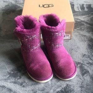 Girls purple UGG boots